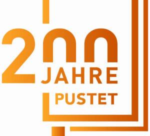 Pustet Logo 200 Jahre mit Pustet Zeile